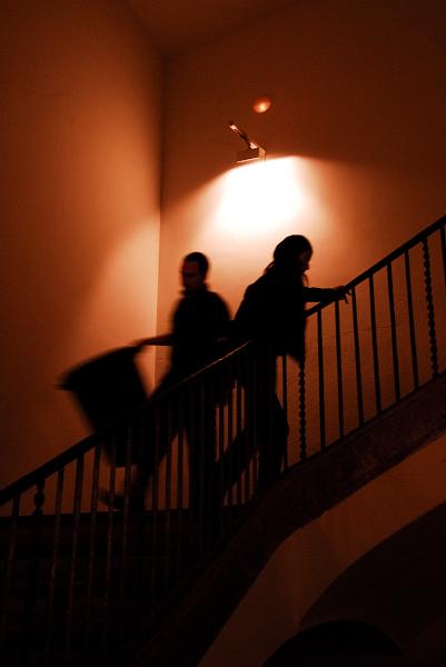 Cruce en escaleras